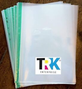 A4 Punched Pockets - Easy Access - Premium Quality - Pack of 25
