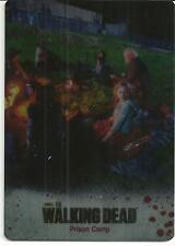 The Walking Dead colour Metal Card #13 season 3 part 1 prison camp