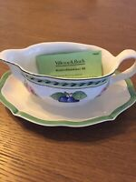 Villeroy & Boch FRENCH GARDEN FLEURENCE Gravy Boat & Underplate BEAUTIFUL NWOB