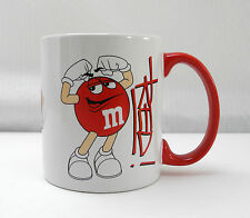 Red Character Official Licensed M&M's Mug-White/Red Handle M&Ms Coffee Cup 2012