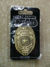 Walking Dead Rick Grimes Sheriff Rest In Peace Badge by Yesterdays