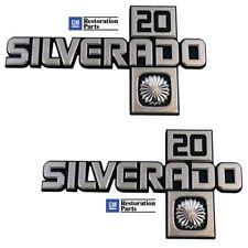 1981 1982 1983 1984 1985 1986 1987 Chevy Truck Fender Emblem Silverado 20 Pair