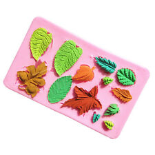 Lastest Mini leaves set fondant cake mold for the kitchen baking Cake Decoration