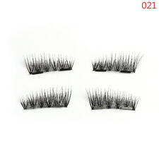 Beauty SKONHED 4 Pcs Lashes/Set Doubel Magnetic False Eyelashes Thick Cross Long