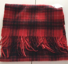 NWT NEW 100% CASHMERE Men's scarf PLAID Red & Black FREE SHIPPING
