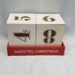 Hallmark Xmas in Evergreen Wooden Days Til Till Xmas Wood Countdown Calendar
