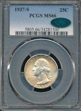 1937-S Washington Quarter PCGS MS 66 CAC Approved *Stone Cold Original!*
