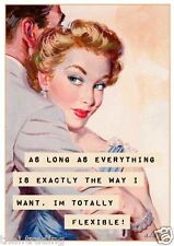 "Vintage Funny Quote Woman Photo Fridge Magnet 2""x 3"" Collectibles"