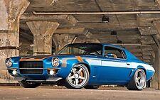 "1971 tuning Chevrolet Camaro hot rod muscle cars Mini Poster 13""x19"" HD"