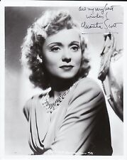 "Authentic Autographed ""Martha Scott""Photo W/Coa"