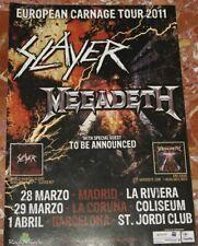 SLAYER + MEGADETH ORIGINAL SPANISH MAGAZINE ADVERT TOUR DATES