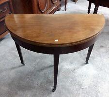 Tavolo da gioco a mezza luna in mogano stile Luigi XVI epoca Edoardiana