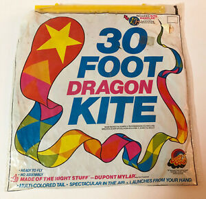 VINTAGE SPECTRA STAR 30 FOOT DRAGON KITE NEW NOS 1986