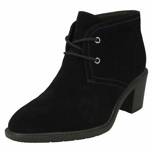 Clarks Ladies Lace Up Heeled Ankle Boots - Scene LaceBoot