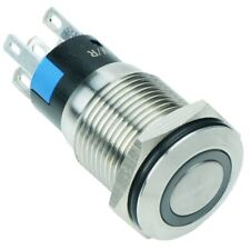 Green LED 16mm Latching Vandal Resistant Switch 3A SPDT