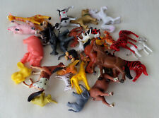 Big Mixed Lot of Plastic Farm Animals, Wildlife and Pets