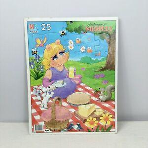 Vintage Muppets Miss Piggy Frame Tray 25 Piece Puzzle Milton Bradley Picnic