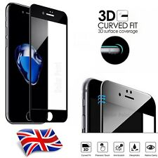 Carbon Fiber 3D Curved Screen Protector Tempered Glass for iPhone 8 Plus Black