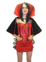 3Pc Red Halloween Vampire Fancy Dress Costume Cape Goth