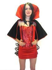 3PC Rosso Costume da HALLOWEEN VAMPIRO mantello Costume gotico
