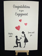 Personalised Handmade Engagement Card
