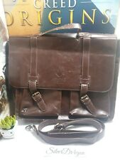 Assassins Creed Syndicate Brown Leather Laptop Bag Limited edition used