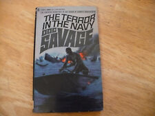 """DOC SAVAGE # 33 """"THE TERROR IN THE NAVY"""" - 1ST PRTG 2/69 - SOLID BANTAM PB"""