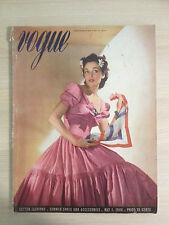 VOGUE US MAI 1,1940 Cotton Fashions Summer Shoes Collection Vintage Mode