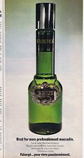 Publicité Advertising 016 1972 Fabergé Brut for men