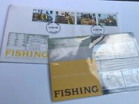 GB Stamps First Day Cover  & Mint Stamp Set Fishing 1981 FDC Postmark Leicester