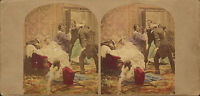 victorian colour stereoview - party game !