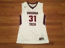 New Nike Men's L Virginia Tech Countdown Elite Digital Basketball Jersey White