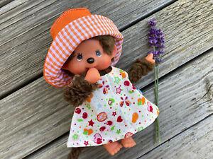 Kleidung Kleid + Hut für MONCHICHI bär Teddy Gr. 20 cm Puppenkleidung Frühling
