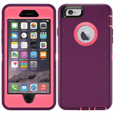 For iPhone 5 6 7 8 Plus Defender Case Cover Hybrid Shockproof Dustproof Clip
