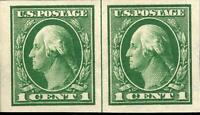 ORLEY STAMPS US Stamp, Scott #408 imperf pair XF/Superb MNH. Gorgeous. PO fresh.