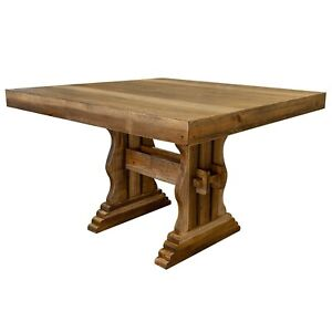 Crafters and Weavers Westwood Farmhouse Style Counter Height Square Dining Table