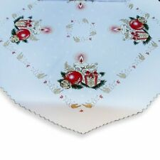 "Christmas square white overlay/tablecloth/table runner 80x80cm (31""x31"") Candle"