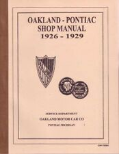 1926 1927 1928 1929 Pontiac Shop Service Repair Manual Engine Drivetrain Wiring