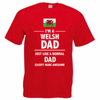 WELSH DAD - Wales / Father / Daddy / Funny / Gift Idea Themed Mens T-Shirt