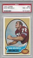 1970 Topps football card #39 Steve Tensi, Denver Broncos graded PSA 8