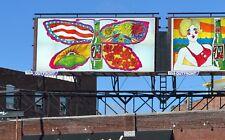 "1969 21'x10' 7Up UnCola ""Butterfly & Bottle"" vintage Billboard Poster Pat Dypold"