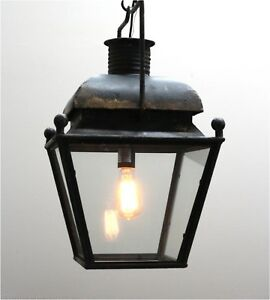 Colonial Pendant Chandelier American Style Aged Bronze Black Shabby Paint