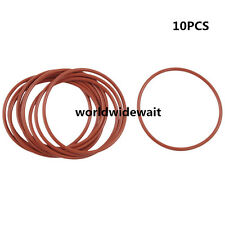 35mm OD 1.5mm Thickness Red Silicone O Rings Oil Seals Gasket 10pcs