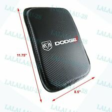 New Embroidery For DODGE Carbon Fiber Center Console Armrest Cushion Pad Cover