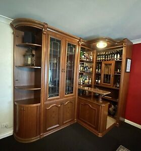 Wooden Dry Bar Alcohol Brescia Vintage Inlaid Cabinet Liquor Storage Wine Pub