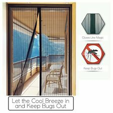 """Magnetic Full Protection Mosquito Door Net Curtain W/ Hook & Tape(40"""" W X 83"""" H)"""