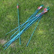 """12pcs 30"""" Aluminium Arrows Target Practice Arrows fit 30-80lb Compound Bow Blue"""