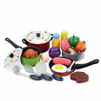 Kids Kitchen Food Accessories Cook Pretend Play Toy Cooking Playset Gift