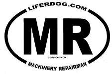4x6 USN MR MACHINERY REPAIRMAN  STICKER