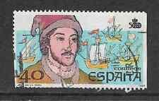 SPAIN POSTAL ISSUE USED COMMEM STAMP 1987 DISCOVERY OF AMERICA - JUAN DE LA COSA